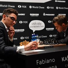 Carlsen, Caruana play out third straight draw in World Chess Championship