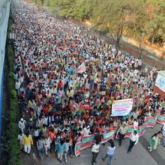 Maharashtra: Farmers continue march to Mumbai's Azad Maidan, will meet chief minister in the evening