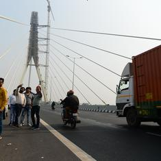Delhi: Two people die after falling off Signature Bridge as their bike hits road divider