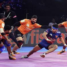 Pro Kabaddi: U Mumba return to top of group with a 39-23 win against Dabang Delhi