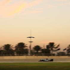 Hamilton sets new lap record at Abu Dhabi GP to secure pole ahead of Bottas and Vettel