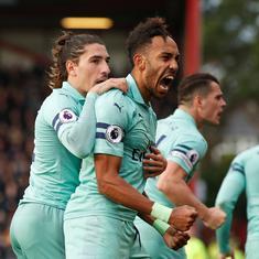 Aubameyang's winner against Bournemouth extends Arsenal's unbeaten run to 17 matches