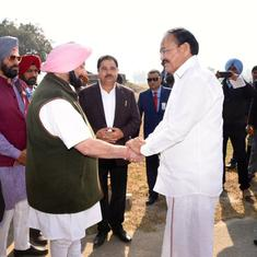 Kartarpur corridor: Venkaiah Naidu and Amarinder Singh criticise Pakistan at foundation-laying event