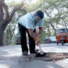 Eco India: A Mumbai resident is repairing the city's roads, one pothole at a time
