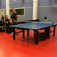 Watch: An unbelievable shot by a 15-year-old table tennis player during a club match in Norway
