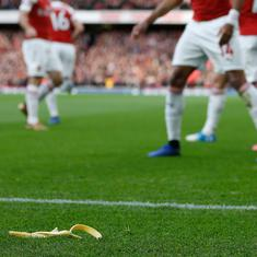 Tottenham fan escapes racism charge after banana skin incident during north London derby