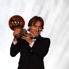Luka Modric wins Ballon d'Or to end Messi-Ronaldo's 10-year duopoly on football's biggest award