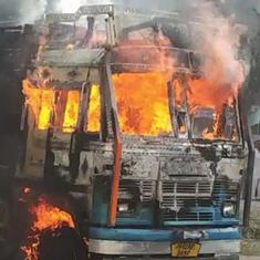 J&K: Two FIRs filed a day after mob in Kathua torched truck allegedly used for cattle smuggling
