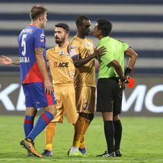Indian Super League: 10-man Mumbai City hold league leaders Bengaluru to 1-1 draw