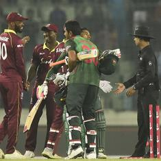 Mushfiqur Rahim leads Bangladesh to five-wicket victory over West Indies in first ODI