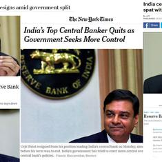 'A negative sign': How international news publications covered RBI chief Urjit Patel's resignation