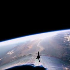 Watch: Virgin Galactic's first tourism spaceship offers a stunning view of earth from edge of space