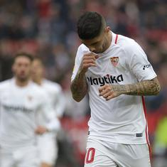 La Liga: Sevilla move level with Barcelona on points after 2-0 win over Girona