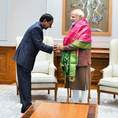 तेलंगाना के मुख्यमंत्री चंद्रशेखर राव ने प्रधानमंत्री नरेंद्र मोदी से मुलाकात की