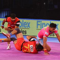 PKL: Bengaluru Bulls thrash Jaipur Pink Panthers to top zone, seal qualifier 1 clash against Gujarat
