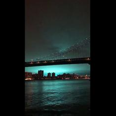 New York City: Sky turns bright blue for a while after explosion at power plant