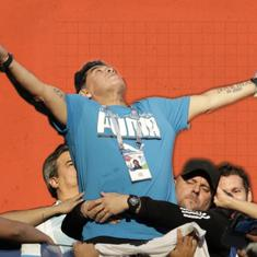 New Year smiles: When Maradona stole the limelight at the World Cup two decades after retirement