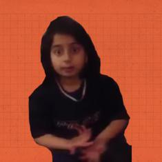 New Year smiles: A feisty little Pakistani girl fights with her mother over Eid money