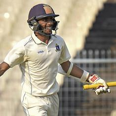 Ranji Trophy: Easwaran scores 183 in Bengal's record chase vs Delhi; Milind hits season's 6th ton