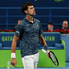 Qatar Open tennis: World No 1 Novak Djokovic goes down against No 24 Bautista Agut in three sets
