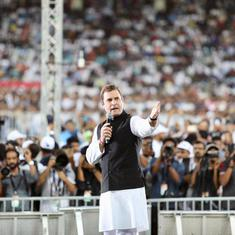 Dubai: Rahul Gandhi promises special category status for Andhra Pradesh if Congress wins elections