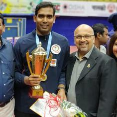 On cloud nine: How Sharath Kamal overcame nerves to win record-breaking national table tennis crown