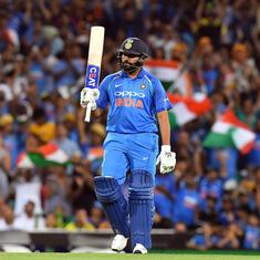 Sydney ODI: 10,000 runs for Dhoni, Rohit Sharma goes level with Sourav Ganguly and other stats