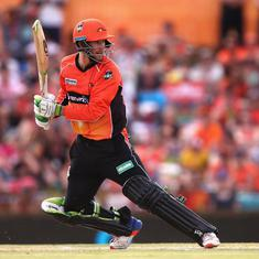 How's that? Michael Klinger dismissed on seventh ball of an over in Big Bash League