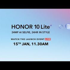 Honor 10 Lite India launch at 11.30 am in New Delhi; a Flipkart exclusive