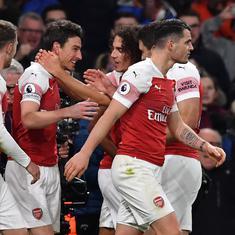 Premier League: Lacazette, Koscielny goals help Arsenal close gap on Chelsea with a 2-0 win