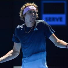 It made me feel better: Zverev on smashing his racquet in Australian Open defeat to Raonic