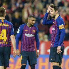 Barcelona's Copa del Rey title hope takes a hit after 0-2 first leg QF loss to Sevilla
