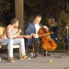 Watch: Cellist Yo-Yo Ma and singer TM Krishna delight Mumbai audiences with spontaneous performance