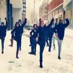 Watch: Montreal-based group performs the bhangra in minus 32 degrees temperature