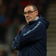 Premier League: Chelsea boss Maurizio Sarri charged by FA for misconduct after Burnley draw