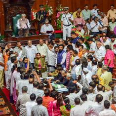Karnataka Assembly adjourned for the day amid BJP MLAs' protest against government