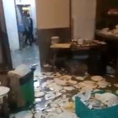 Watch: Wedding guests, staff at Delhi hotel exchange blows, allegedly over poor quality of food