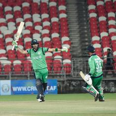 Andy Balbirnie's unbeaten ton helps Ireland beat Afghanistan by 4 wickets in 3rd ODI