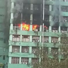 Delhi: Fire breaks out at CGO Complex, one CISF sub-inspector dies