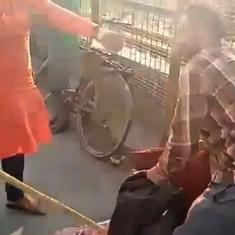 As video of two Kashmiri vendors being beaten up in Lucknow goes viral, four people arrested