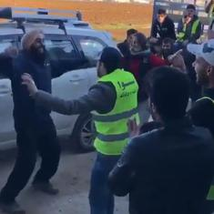 Watch: A Khalsa Aid volunteer's bhangra moves to Arabic music in a refugee camp are spreading joy