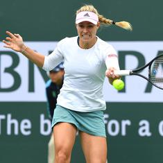 Eastbourne tennis: Kerber sets up Halep quarter-final, Sabalenka beats defending champ Wozniacki