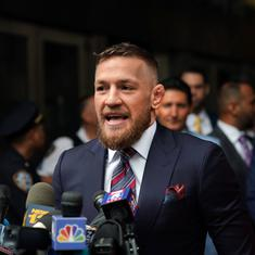 Mixed Martial Arts fighter Conor McGregor arrested in Miami for smashing a fan's phone