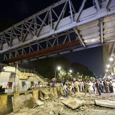 Mumbai bridge collapse: Civic body issues show-cause notices to structural auditor and contractor