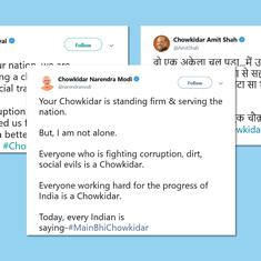 'Chowkidar Narendra Modi': On social media, BJP takes Congress' corruption charges head on