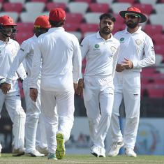 Rashid Khan's five-for against Ireland puts Afghanistan on the brink of first Test victory