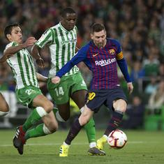 Lionel Messi's stunning hat-trick applauded by even rival fans as Barcelona beat Real Betis