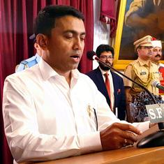 Goa: BJP's Pramod Sawant sworn in as chief minister past midnight
