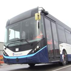 Watch: International transport group Stagecoach tests the UK's first driverless bus in Manchester