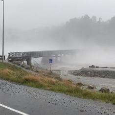 Watch: Dramatic video shows a bridge in New Zealand getting swept away in flood waters